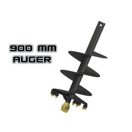 "AUGER TORQUE S4 - 900mm / 36"" AUGER- 65MM ROUND TO SUIT EARTHDRILL & AUGER DRIVE"